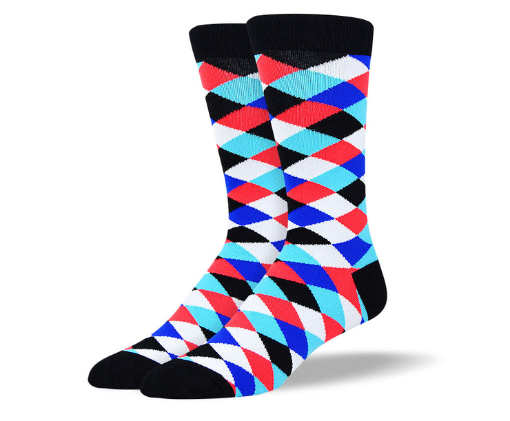 Men's Colorful Diamond Socks