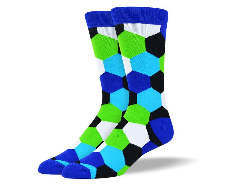 Men's Colorful Socks Hexagon