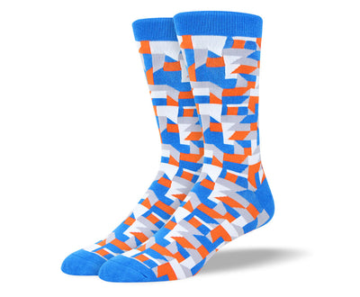 Men's Fun Blue Art Socks