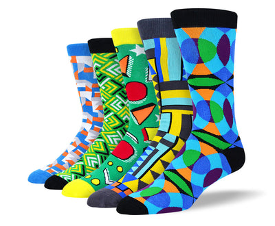 Men's Funky Art Design Socks Bundles