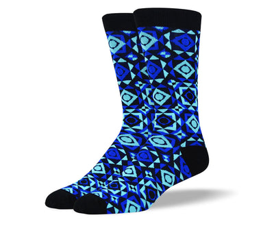 Men's Funky Blue Art Socks