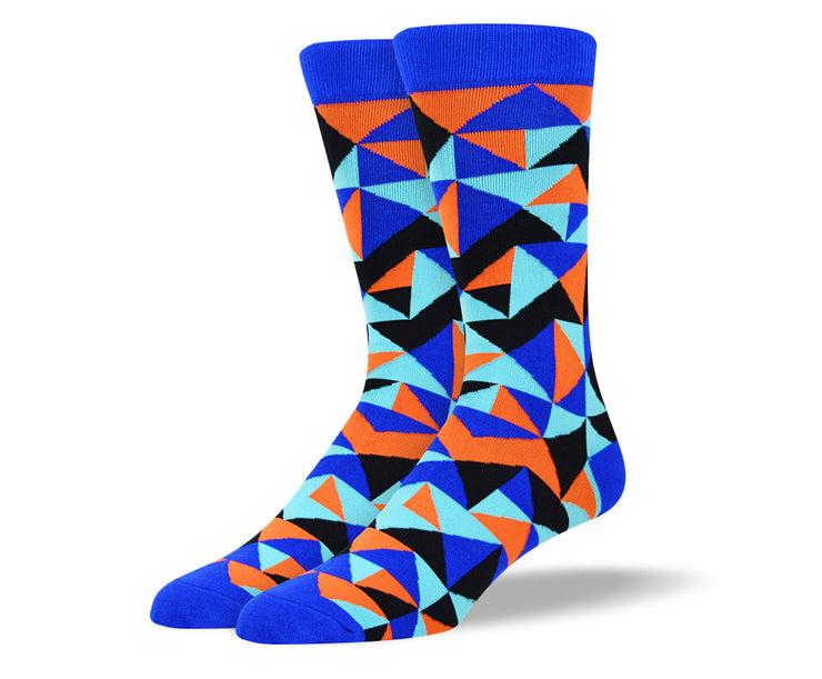 Men's Funky Blue Fashion Socks