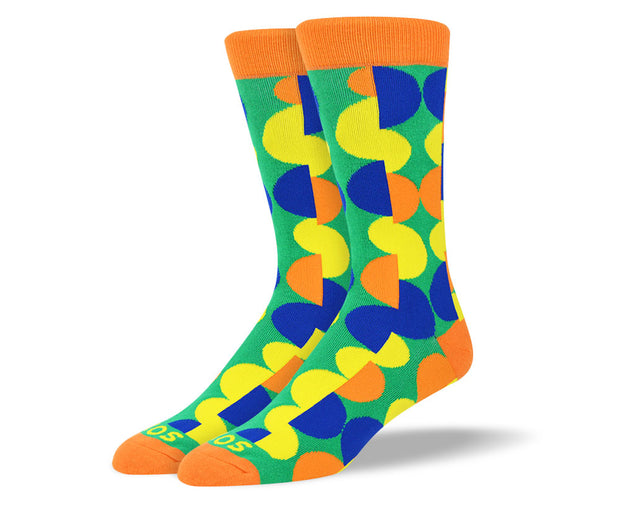 Men's Funky Orange Patterns Socks