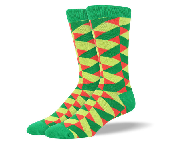 Men's Green Crazy Socks