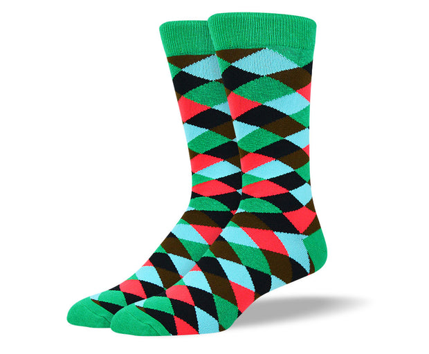 Men's Green Fashion Socks