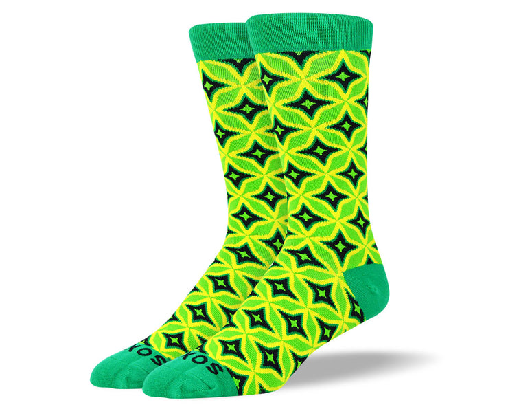 Men's Green Luxury Dress Socks