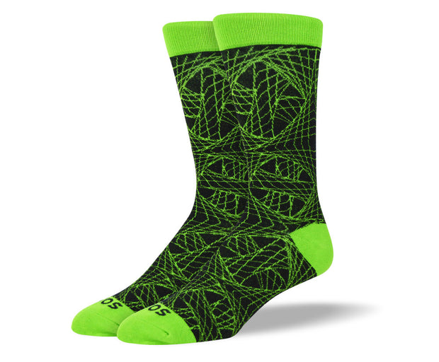 Men's Green Web Socks