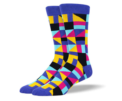 Men's Novelty Blue Bold Socks