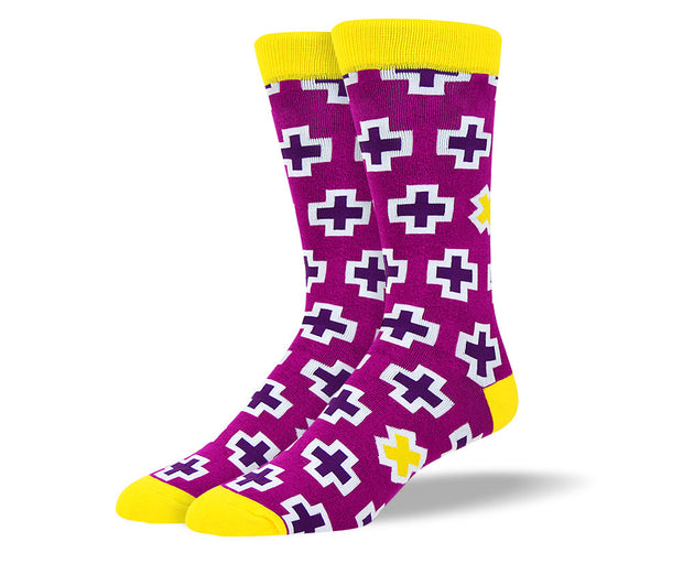 Men's Purple Cross Socks