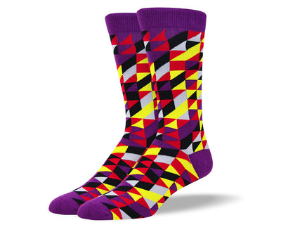 Men's Purple Novelty Dress Socks