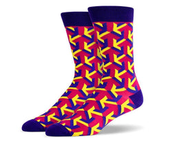 Mens Purple Arrow Socks