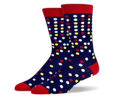Mens Multi Color Polka Dots