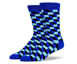 Mens 3D Rectangle Socks