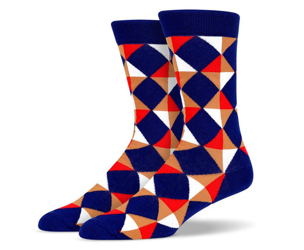 Mens Diamond and Triangle Socks