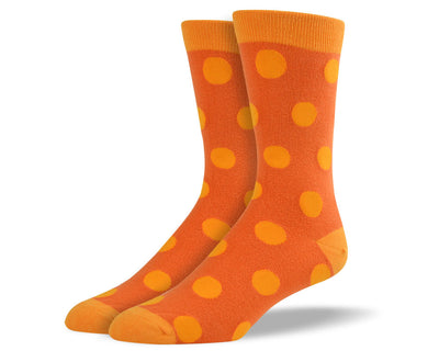 Men's Orange Big Dots Socks