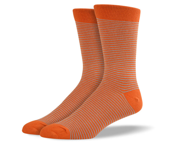 Men's Orange Thin Stripes Socks