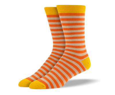 Men's Orange Stripes Socks