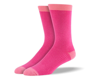 Men's Pink Thin Stripes Socks