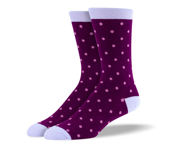 Men's Light Purple Small Polka Dot Socks