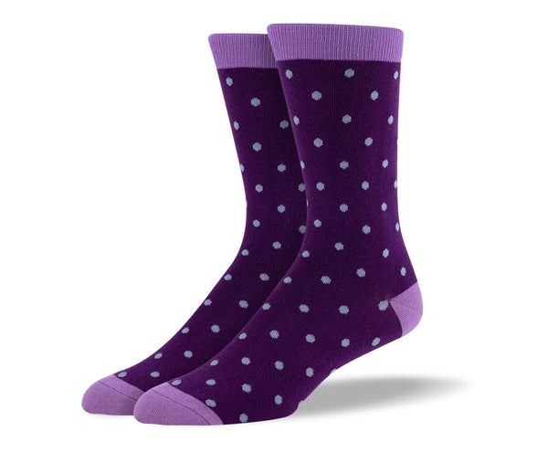 Men's Dark Purple Small Polka Dot Socks
