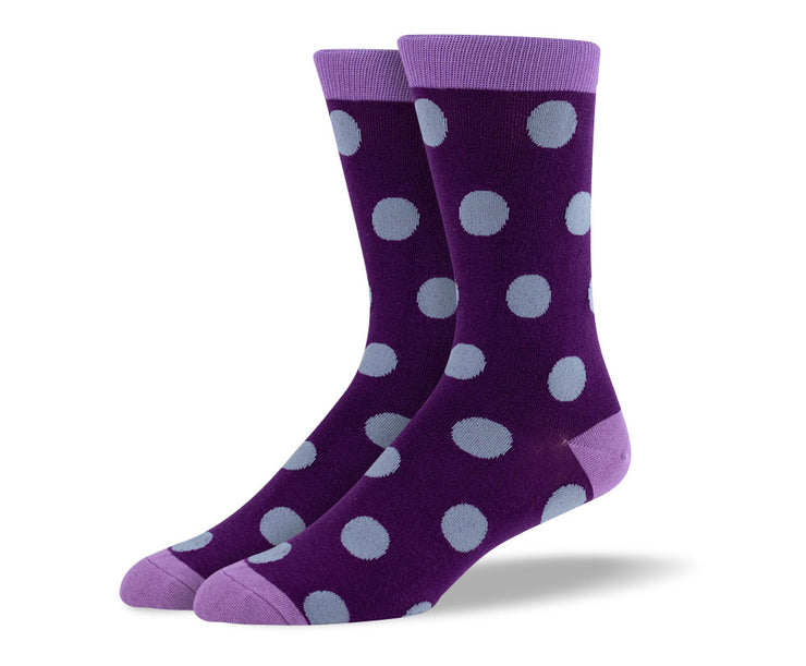 Men's Purple Big Dots Socks