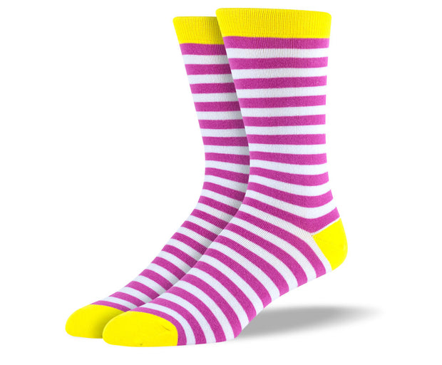 Men's Pink Stripes Socks