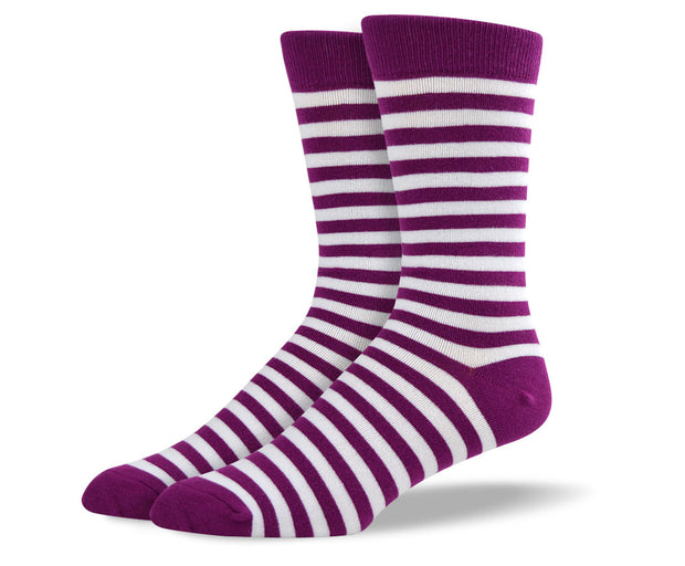 Men's Light Purple Stripes Socks