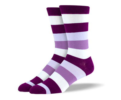 Men's Purple Thick Stripes Socks