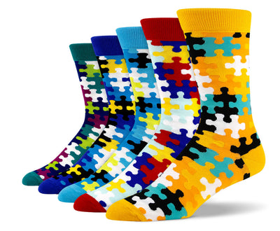 Mens Puzzle Socks Bundle