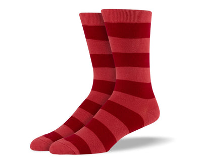 Men's Red Thick Stripes Socks
