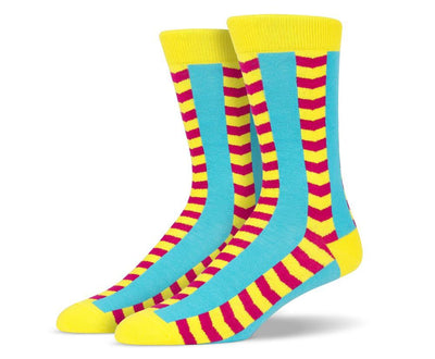 Mens Bold Vertical Stripes Socks