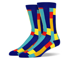 Mens Vertical Rectangle Socks