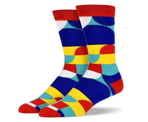 Mens Red Art Socks