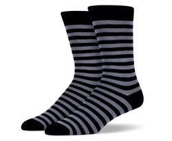 Mens Black Stripe Socks