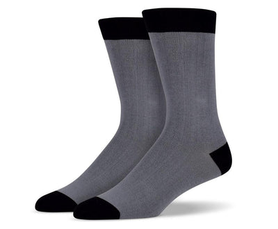 Men's Solid Grey Socks