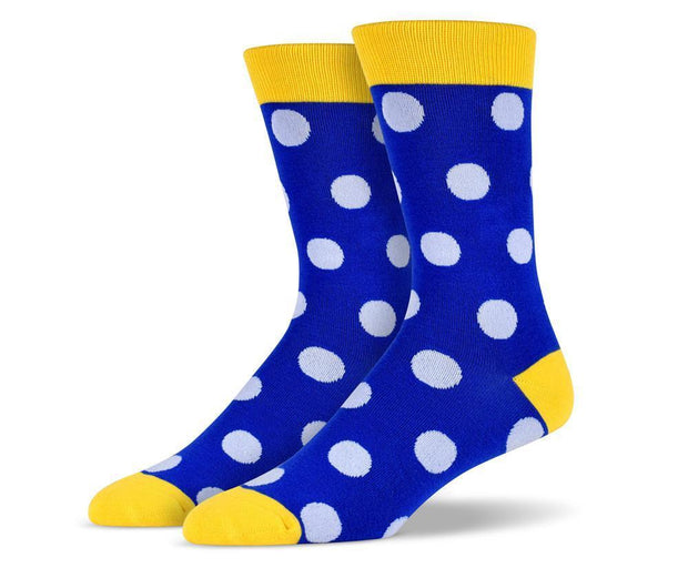 Mens Yellow Big Dots Socks