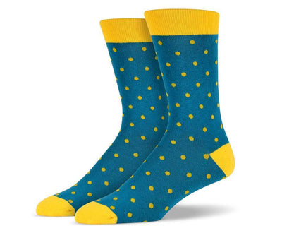 Mens Green Small Polka Dot Socks