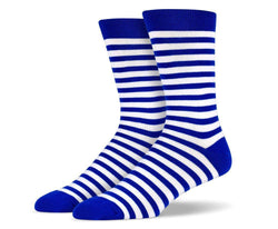 Mens Blue Stripe Socks