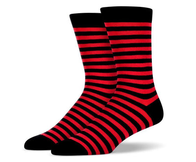 Mens Red Stripe Socks