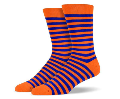 Mens Orange Stripe Socks