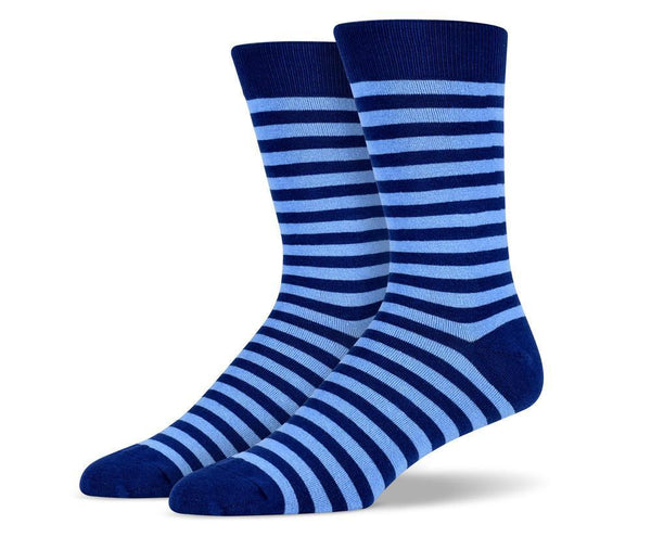 Mens Navy Stripe Socks