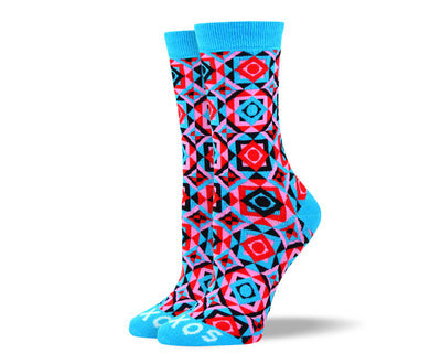 Women's Cool Blue Novelty Socks