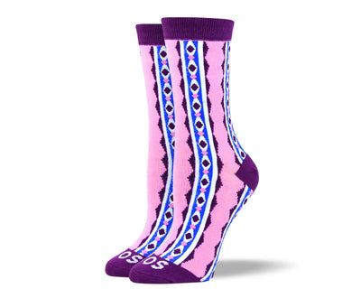 Women's Funny Pink Colorful Socks