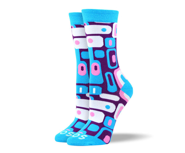 Women's Awesome Blue Totem Socks