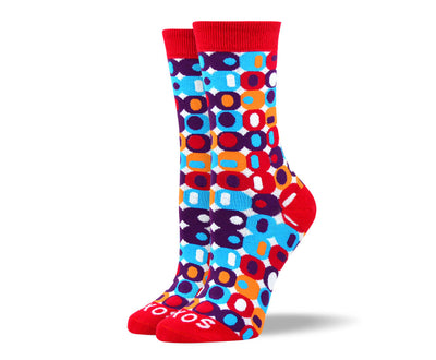 Women's Cool Red Crazy Socks