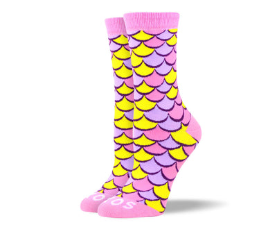 Women's Funky Pink Scales Socks