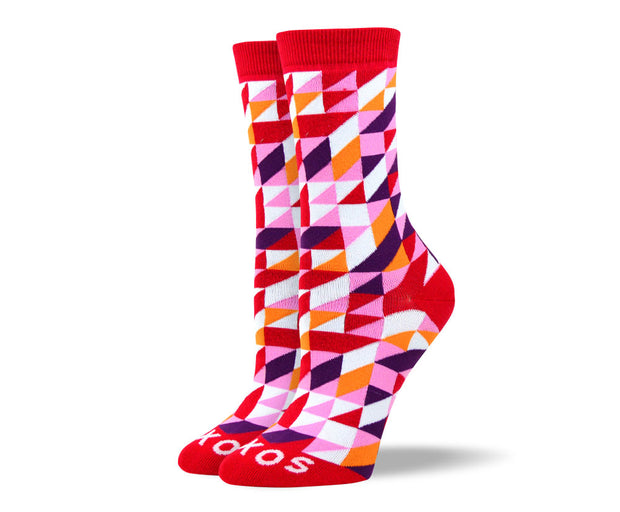 Women's Awesome Red Triangle Socks