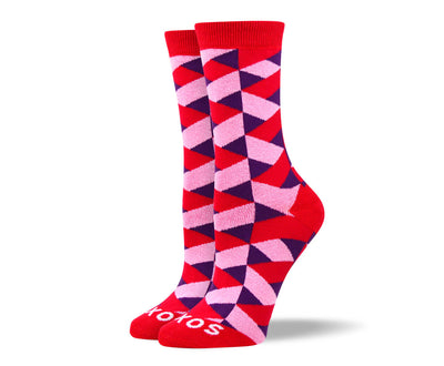 Women's Wild Red Pattern Socks