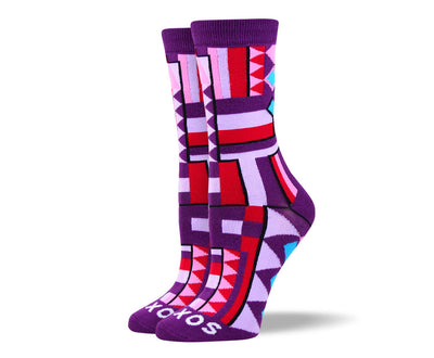 Women's Unique Purple Pattern Socks