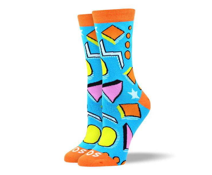 Women's Funny Blue Art Socks